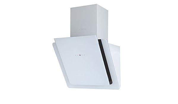 Campana extractora F.Bayer de 60 cm, sin cabeza, cubierta de pared blanca, cubierta frontal de cristal, cubierta para la cabeza, rejilla de pared, 900 m3/h, campana de extracción, 5 niveles, control táctil,