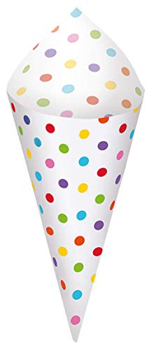 Rainbow Mini Paper Snack Cones with Tray | 40 Ct.]()