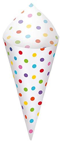 Rainbow Mini Paper Snack Cones with Tray | 40 Ct. -
