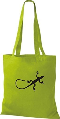 Shirtinstyle - Bolso de tela de algodón para mujer - lime green