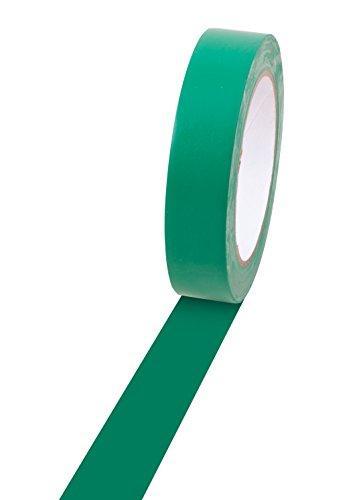 Champion Cinta de vinilo Sports para marcar suelos, varios colores y longitudes, 2.54 cm x 33 m, Verde, 1' x 36yd