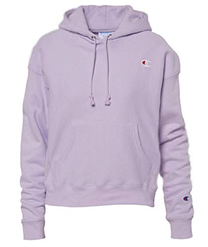 (Champion LIFE Women's Reverse Weave Pullover Hood, Pale Violet Rose M)