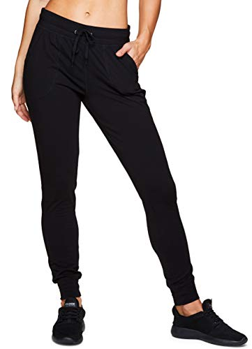 RBX Active womens Full Length Cotton Jogger,Black,Medium