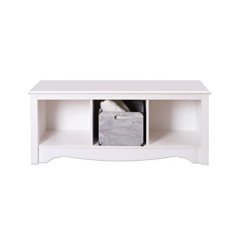 White Cubbie Bench