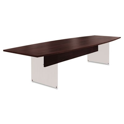 Preside Boat-Shaped Conference Table Top, 144 x 48, Mahogany, Sold as 1 Each