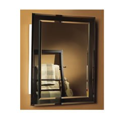 Jensen 1450BC Mirror On Mirror Frameless Single Door Recessed Medicine  Cabinet