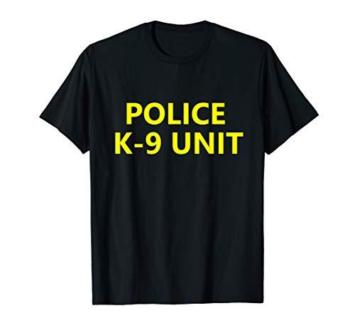 Halloween Police K-9 Unit Shirt Costume Officer Dog -