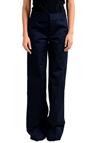 (Dsquared2 Navy Straight Leg Women's Casual Pants US XS IT 38)