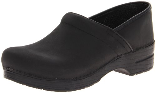 Dansko Professional, Black Oiled, 43 Men's 9.5-10, US Women's 12.5-13 - Slip Oiled Professional Ons