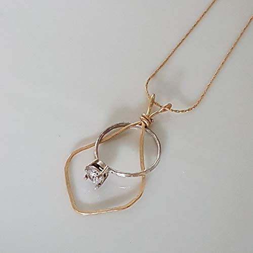 Gold filled Wedding Ring Holder Necklace 16.5