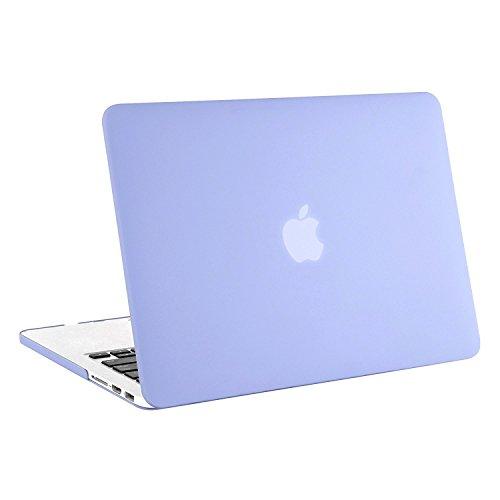 MOSISO Ultra Delgado Plástico Dura Funda Rígida Caso para MacBook Pro 13 Pulgadas con Pantalla Retina sin CD-Rom (A1502 / A1425, Versión 2015/2014/2013/fin 2012), Cuarzo Rosa Serenidad Azul