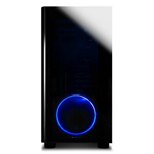iBUYPOWER Elite Gaming PC Desktop AMD Ryzen 7 1800X 3.6GHz, AMD Radeon RX 580 4GB Graphics, 16GB DDR4 RAM, 1TB HDD, 120GB SSD, Win 10 Home 64-bit, View21 035A