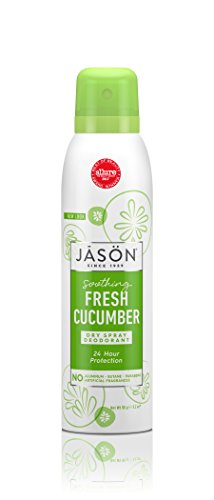 JASON Soothing Fresh Cucumber Dry Spray Deodorant, 3.2 Ounce