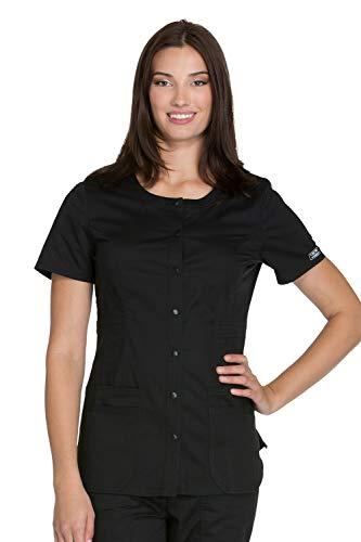 Cherokee Workwear Core Stretch WW683 Round Neck Top Black M