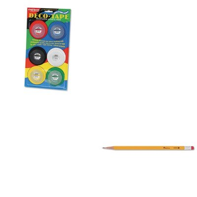 KITCHADEC001UNV55400 - Value Kit - Chartpak Deco Bright Decorative Tape (CHADEC001) and Universal Economy Woodcase Pencil (UNV55400)