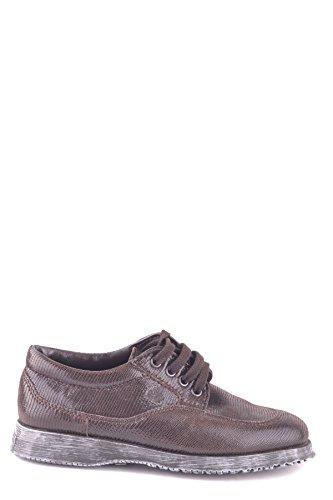 Hogan Mujer MCBI148313O Marrón Cuero Zapatos De Cordones