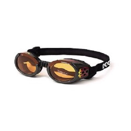 Doggles ILS X-Small Racing Flames Frame and Orange Lens, My Pet Supplies