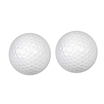 Prettyia 2 Pieces White Floating Golf Balls Water Golf Practice Ball Indoor Outdoor Practice Training Aid Golf Supplies