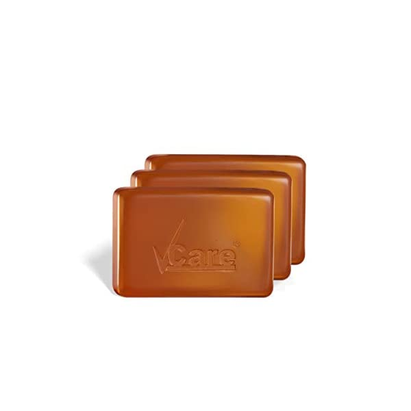 VCare Skin Whitening Soap with Richness of 12 Active Ingredients, 100 gm, (Pack of 3) 2021 July The anti-inflammatory and antimicrobial properties remove dirt and fights against bacteria. Red sandalwood powder is very effective to reduce hyperpigmentation, sun tan and dark spots. The active ingredients in skin whitening soap will improve overall skin texture.