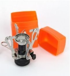 Ultralight Backpacking Canister Camp Stove Burner with Piezo Ignition 3.9oz, Outdoor Stuffs