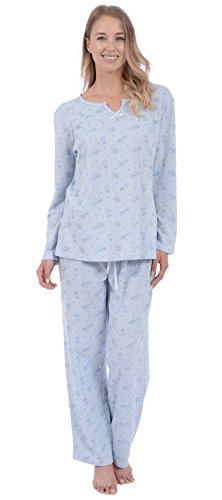 Patricia Womens 2 Piece Pajama Set Short Sleeve Top and Cute Shorts Loungewear