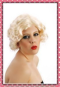 Everglamour Disfraz Peluca Hollywood Marilyn Monroe De Lujo Rubia para Mujeres