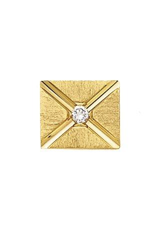 L&M 14K Yellow Gold Envelope Tie Tac with Center Diamond-89115