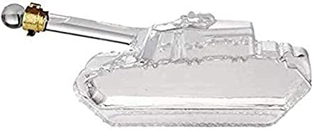 Decantador de Vino Cristal Forma Del Tanque Decantador DEC Decantador De Agua, Decantador De Vidrio De Whisky, Botella De Agua De Cristal Decorativa Personalizada De Vino, Soplo De Mano Cristalino Sin