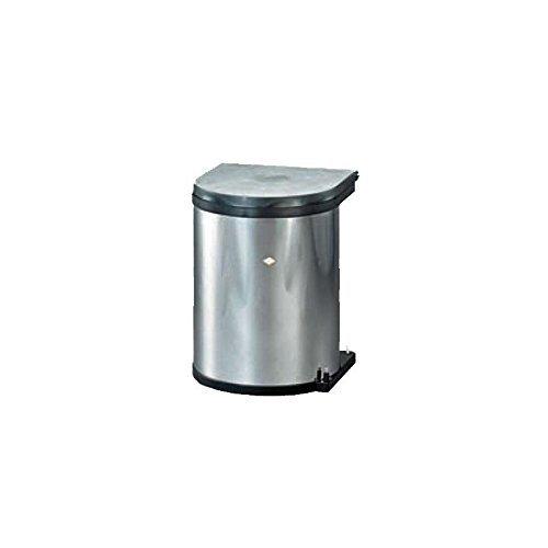 Einbau Abfallsammler Wesco Edelstahl 13 Liter rund ausschwenken an Drehtüren Küche Mülleimer