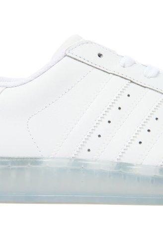 Adidas Mens La Superstar Clr Sneaker 7.5 Bianca