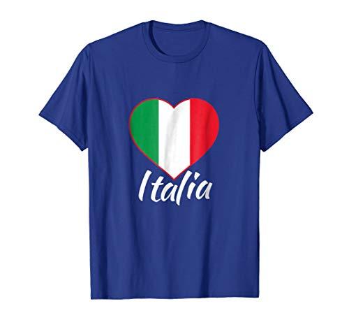 Mens ITALIA T-shirt - I Love Italy - Italian Heart - Italian Flag 2XL Royal Blue
