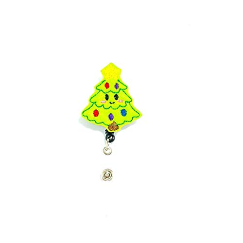 Christmas Tree Retractable Badge Reel (Tree Christmas Retractable)