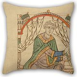 Elegancebeauty Oil Painting Eadmer Of Canterbury (English - Life And Conversation Of Anselm Of Canterbury Pillow Covers ,best For Sofa,deck Chair,chair,chair,festival,car Seat 18 X 18 Inches / 45 By