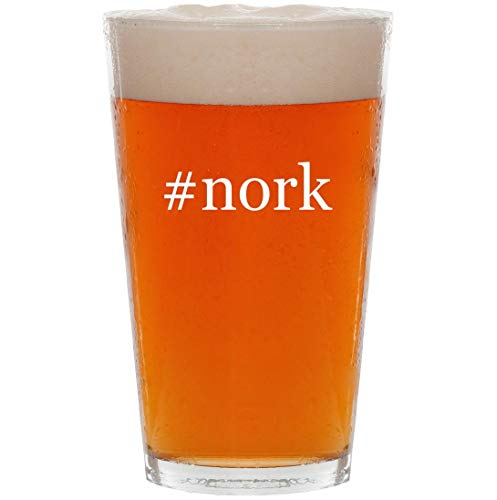 #nork - 16oz Hashtag All Purpose Pint Beer Glass]()