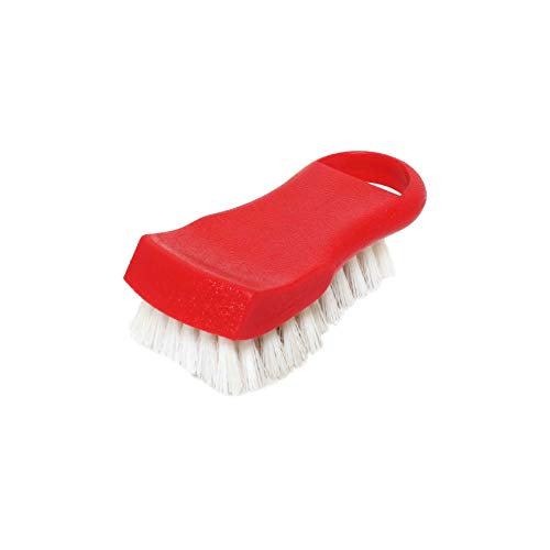 "6"" x 2 1/2"" x 2"" cutting board brush, plastics, red, comes in each"