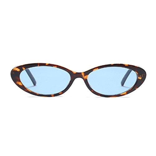 Gafas de gafas de vendimia de los de hombres las pequeñas Leopardo Azul sol de hombres los Inlefen de marcos los ovales mujeres la d4gIwdq
