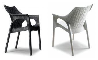 Idea Sillas Bar 4, sillones (Polipropileno, Concha Trenzada y ...