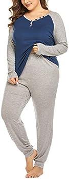Involand Plus Size Womens Pajama Sets