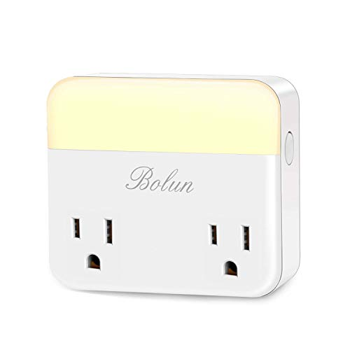 Smart Plug Wifi Outlet with Night Light, Compatible with Alexa, Echo, Google Home Assistant IFTTT, Wireless Remote Control Outlet from Anywhere, No Hub Required, 0%-100% Adjustable Brightness