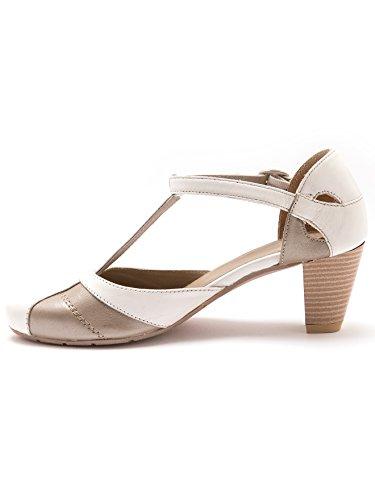 Pediconfort - Sandalias de Vestir Mujer blanco y beige