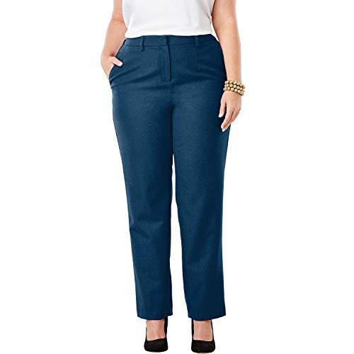 Jessica London Women's Plus Size Wool-Blend Trousers - Twilight Teal, 20 W