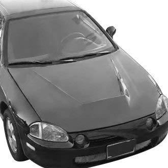 VIS Racing (VIS-EEF-558) Invader Style Hood Carbon Fiber - Compatible for Honda CRX 1988-1991 (1988 1989 1990 1991 | 88 89 90 91)