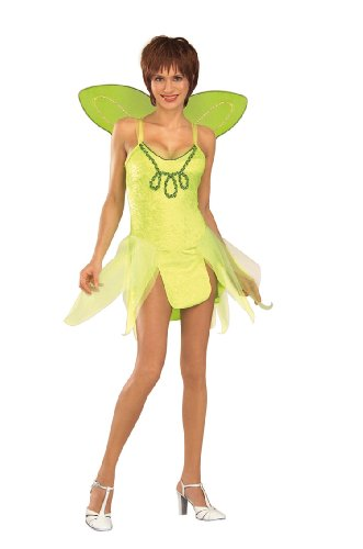 Adult Tinker Bell Costume, Ladies Standard (Up to Dress size 12)
