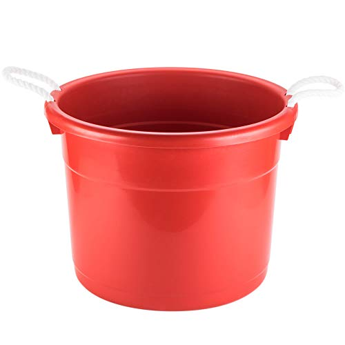 TableTop King 8119RD Huskee Red Tub with Rope Handles - 17
