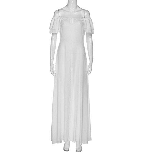 Robe De Soirée, Crystell 2017 Femmes Robe De Sarclage Robe Blanche