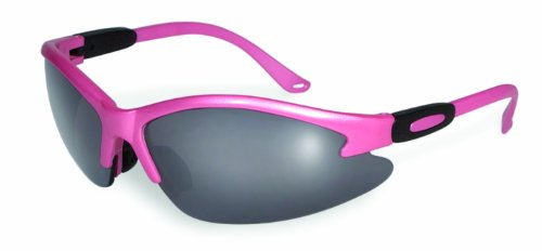 SSP Eyewear Women's Safety Glasses with Pink Frames & Smoked Shatterproof Lenses, COLUMBIA PK SM
