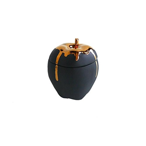 Michiko Shimada Apple Trinket Box | Gold/Black (Sw Apple Accents)