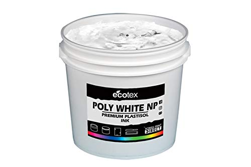 (Ecotex Poly White NP Plastisol Ink for Screen Printing - Non Phthalate Formula - All Sizes (Quart))
