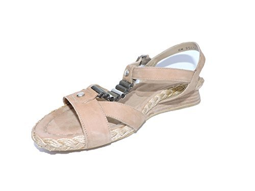 Stuart Weitzman Women's Cartridge Tan Wedge Sandals Size 9 M