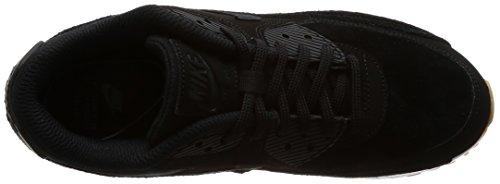 Nike Wmns Air Max 90 Se Vrouwen Lifestyle Toevallige Tennisschoenen Zwart / Zwart-gum Lichtbruin Nieuwe 881105-003